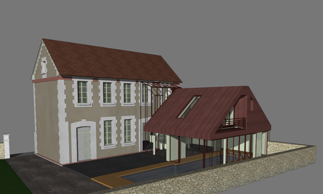 Une extension triangulaire pour une maison caen - Office notarial saint philbert de grand lieu ...